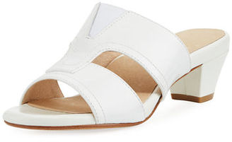 Taryn Rose Olig Patent Strappy Slide Mule $130 thestylecure.com