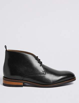 e5bdaff892c M&S CollectionMarks and Spencer Big & Tall Leather Lace-up Chukka boots