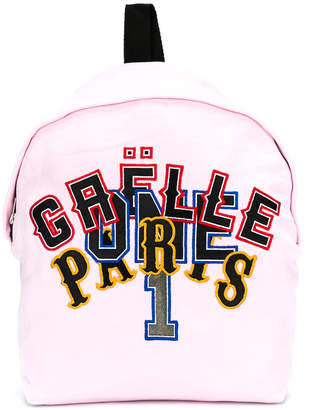 Gaelle Paris Kids logo patch backpack