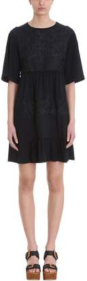 See by Chloe Lace Embellished Short-sleeved Dress