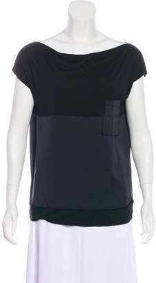 Bottega Veneta Paneled Short Sleeve Top