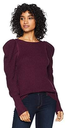 Cable Stitch Women's Puff Shoulder Sweater