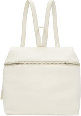 Kara Off-White Large Leather Backpack