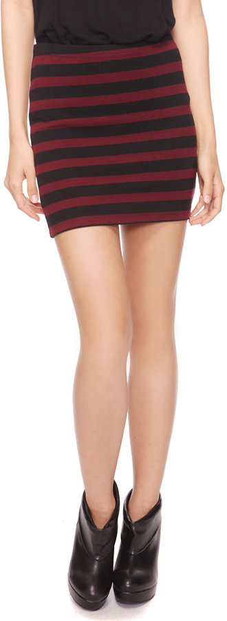 Forever 21 Striped Bodycon Skirt