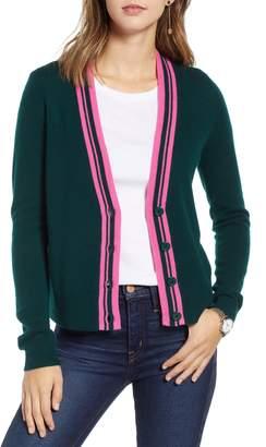 1901 Stripe Detail Wool & Cashmere Cardigan