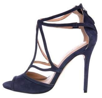 Halston Suede Multistrap Sandals