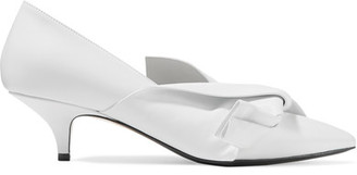 No. 21 - Knotted Leather Pumps - White