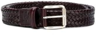 Canali interlace buckle belt