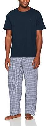 Tommy Hilfiger Men's Poplin Pajama Pant and T-Shirt Set