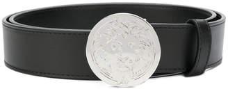 Versus silver-tone lion head disc belt