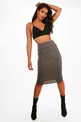 boohoo Maddie Basic Jersey Midi Skirt