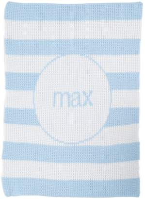 Butterscotch Blankees 'Modern Stripe' Personalized Crib Blanket