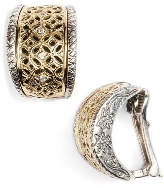 Women's Konstantino Selene Diamond Clip Hoop Earrings $1,480 thestylecure.com