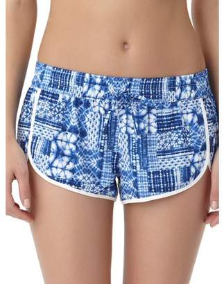 No Boundaries Juniors Unfold Journey Printed Boardshort Cover-Up