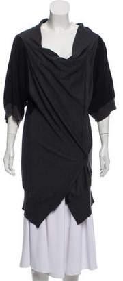CNC Costume National Wool Longline Cardigan