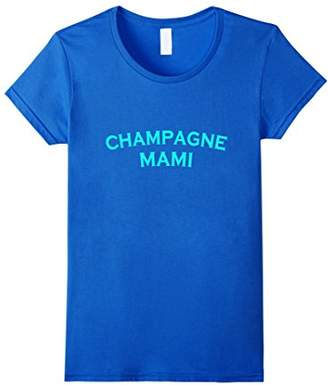 Women's Champagne Mami Funny T Shirt