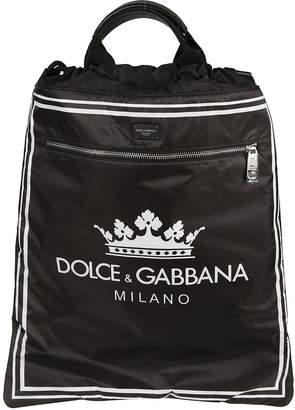 Dolce & Gabbana Drawstring Logo Backpack