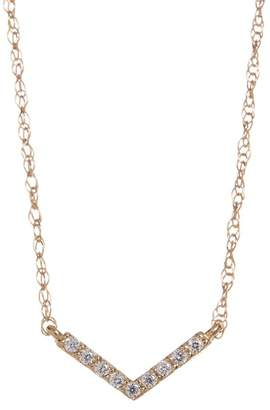 Candela 10K Yellow Gold CZ Chevron Necklace