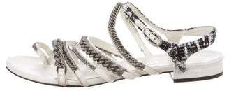Chanel Multistrap Chain-Link Sandals
