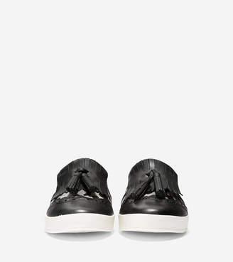 Cole Haan Women's GrandPr Spectator Kiltie Tassel Slip-On Sneaker