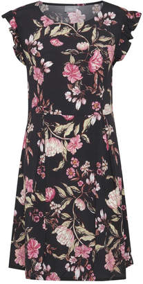 B.young Black Floral Dress