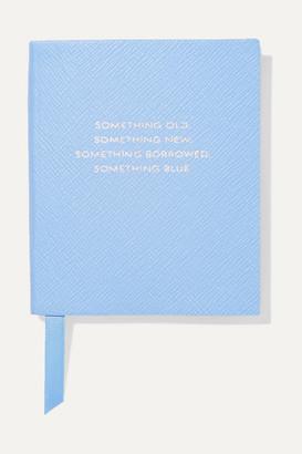 Smythson Panama Something Old, Something New, Something Borrowed, Something Blue Textured-leather Notebook