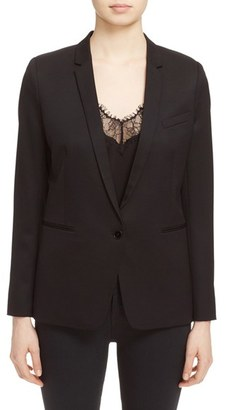 Women's The Kooples 'Timeless' Stretch Wool Jacket $495 thestylecure.com