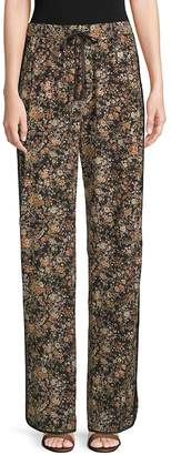 ADAM by Adam Lippes Women's Silk Floral Lounge Pants
