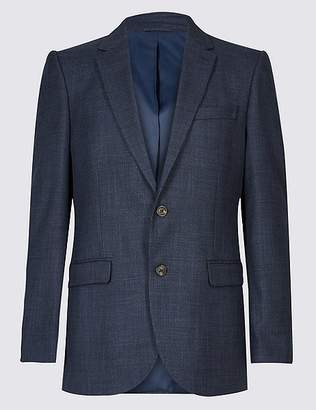 Marks and Spencer Big & Tall Textured 2 Button Regular Fit Jacket