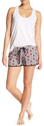 PJ Salvage Wine Glass Pajama Shorts