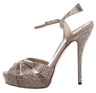 Gucci Strass Platform Sandals