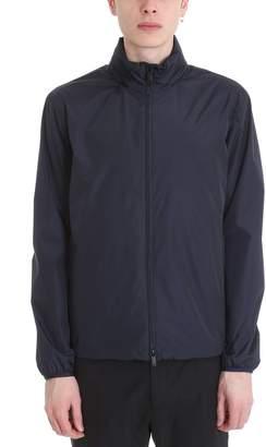 Ermenegildo Zegna Blue Nylon Bomber Jacket