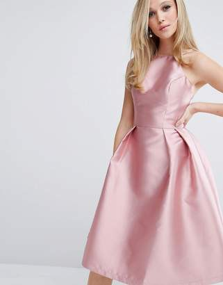 Chi Chi London Structured Satin Prom Dress $94 thestylecure.com