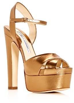 Brian Atwood Women's Madison Leather High-Heel Platform Sandals