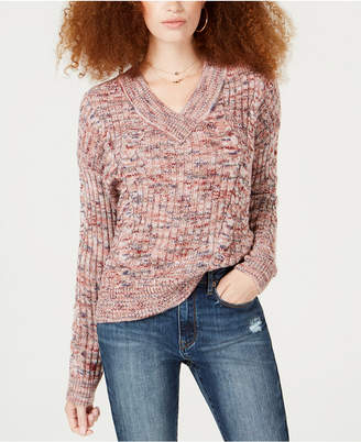 American Rag Juniors' Off-The-Shoulder Mixed-Knit Sweater, Created for Macy's