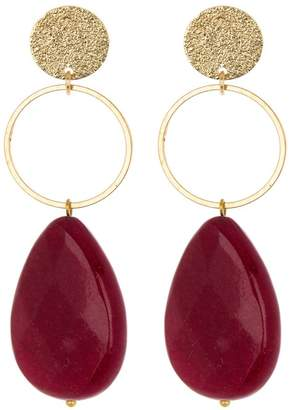 Panacea Red Teardrop Earrings