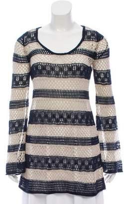 Calypso Linen Knit Striped Tunic