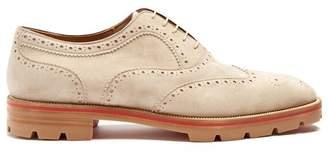 Christian Louboutin (クリスチャン ルブタン) - CHRISTIAN LOUBOUTIN Charlie suede oxford shoes