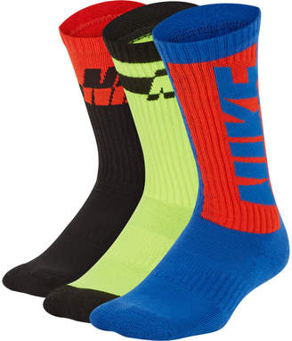 Nike Kids' Everyday Cushioned 3-Pack Crew Socks