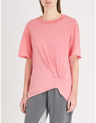 Stateside Knotted cotton-jersey T-shirt