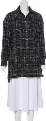 The Kooples Plaid Tweed Coat