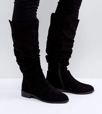 Asos Design CAPITAL Slouch Knee Boots