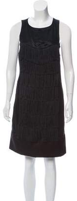 See by Chloe Fringe-Accented Shift Dress