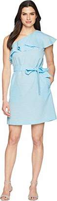 Donna Morgan Women's One Shoulder Shift Dress