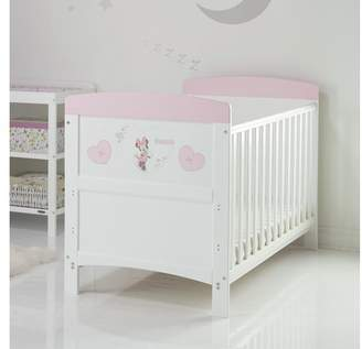 Disney Minnie Mouse Cot Bed - Hearts