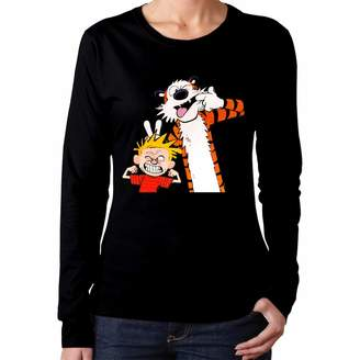 Pauline D. McIntyrer PaulineD Women's Calvin and Hobbes Long Sleeve Tshirt XXL