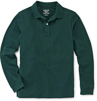Izod EXCLUSIVE Long-Sleeve Piqu Polo - Boys 8-20 and Husky