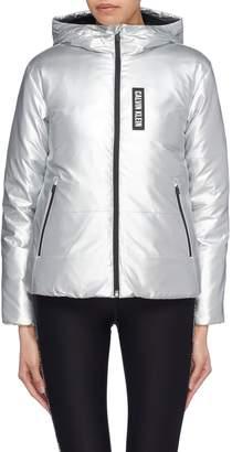 Calvin Klein Metallic hooded down jacket