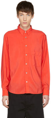 Lemaire Red One-Pocket Shirt