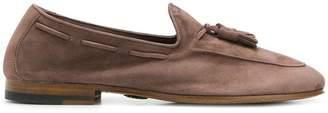 Andrea Ventura stitch trim loafers
